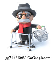 Geriatrics - 3d Grandpa Goes Shopping