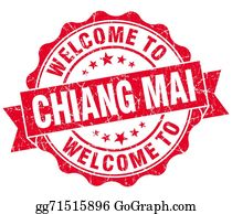 Mai - Welcome To Chiang Mai Red Vintage Isolated Seal