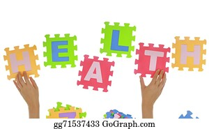 "Health-Insurance-Card - Hands Forming Word ""health"" With Jigsaw Puzzle Pieces Isolated"