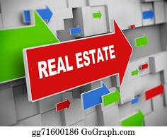 Wall-Background - 3d Moving Arrow - Real Estate
