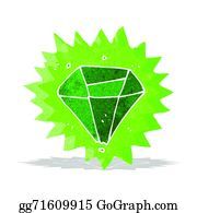 Vector Stock - Cartoon emerald. Clipart Illustration gg71254431 ...