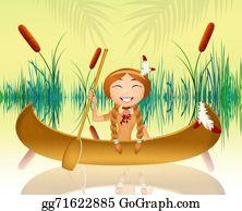 Canoe - Indian Girl In The Canoe
