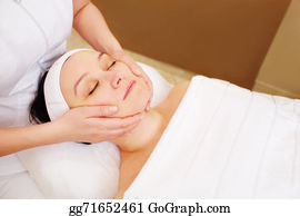 Spa - Woman Taking Facial Treatments At Beauty Spa