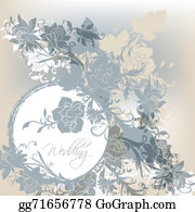 Vintage-Floral-Blue-Frame-Vector - Blue Wedding Card