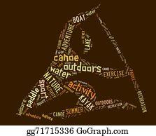 Canoe - Canoe Pictogram With Brown Wordings