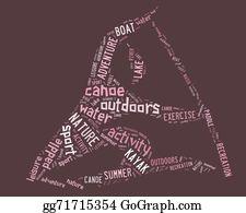 Canoe - Canoe Pictogram With Pink Wordings