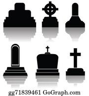 Headstone - Set Of Gravestone Silhouettes