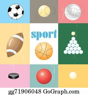 Six-Spheres-Balls-Illustration-With - Set Of Sports Balls