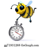 Bee-Hive - 3d Honey Bee With A Stopwatch