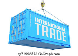 International-Trade - International Trade - Blue Hanging Cargo Container.