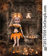 Lunatic - Beautiful Toon Pumpkin Girl