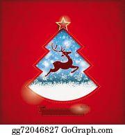Christmas-Gold - Christmas Tree Hole Snowfall Rentier Red