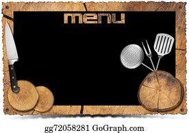 Utensils - Rustic Menu Background - Photo Frame