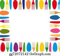 Dinner-Icons - Cutlery Color Background Menu
