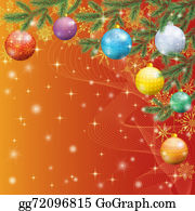 Fir-Tree - Christmas Spruce Fir Tree With Ornaments