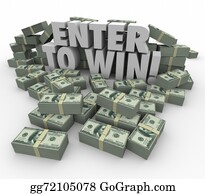 Lottery-Winner - Enter To Win 3d Words Cash Money Stacks Contest Raffle Lottery