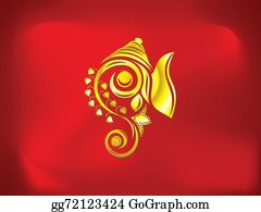 Ganesha - Abstract Artistic Golden Ganesha Background