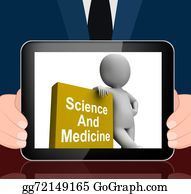 Medical-Textbook - Science And Medicine Book With Character Displays Medical Resear