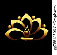 Golden-Lotus-Flower-Logo - Gold Lotus And People Team Meditation Icon Vector Logo Design