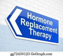 Therapy - Hormone Replacement Therapy Concept.