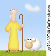 Lamb - Shepherd With Sheep