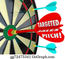 Bullseye - Targeted Sales Pitch Dart Board Finding Customers Clients