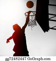 Basketball-Hoop - Silhouette Of Basketbal Player