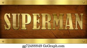 Superman - Vintage Door Plate, Superman