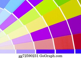 Swatches-In-Rainbow-Vector - Vector Colour Card