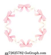 Bows - Round Frame Made Of Ribbon Bows