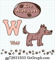 Huskies - Colorful Children's Alphabet With Animals, Wolf