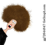 Humor - Funny Frazzled Woman With Electrified Hair