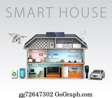 Recycle-Technology -  Energy Efficient Home Concept