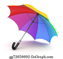 Color-Rain - Rainbow Umbrella
