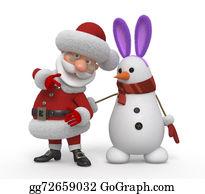 Playboy - 3d Santa Claus With A Snowman