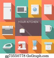 Coffee-House - Set Of Kitchen Appliances Flat   Icons