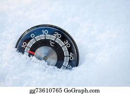 Freezing-Cold - Thermometer In The Snow