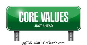 Honesty - Core Values Road Sign Illustration Design