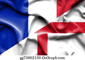 Government-And-Economy - Waving Flag Of England And France
