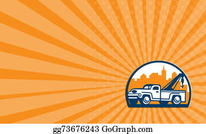 Tow-Truck - Business Card Vintage Tow Truck Wrecker Retro