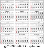 Months-Of-The-Year - Calendar 2015