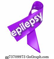 Fundraiser - Epilepsy Purple Lavender Ribbon Cure Treat Health Care