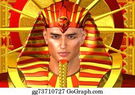 Pharaoh - Egyptian Pharaoh, Digital Art