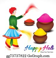 Holi-Festival-Celebration - Happy Holi Background With Traditional Indian Man