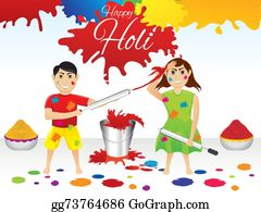 Holi-Festival-Celebration - Abstract Artistic Holi Splash Background