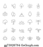 Leaf-And-Oxygen - Outline Stroke Natural Icons