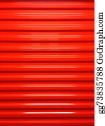 Self-Storage - Red Rollup Door