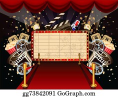 Movie-Production - Illustration Of Theatre Marquee Wit