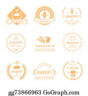 Dinner-Icons - Set Of Bakery And Bread Shop Logos, Labels, Badges  Design Elements Isolated