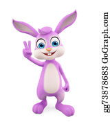 Cartoon-Farm-Animals-Card - Easter Bunny With Winning Pose
